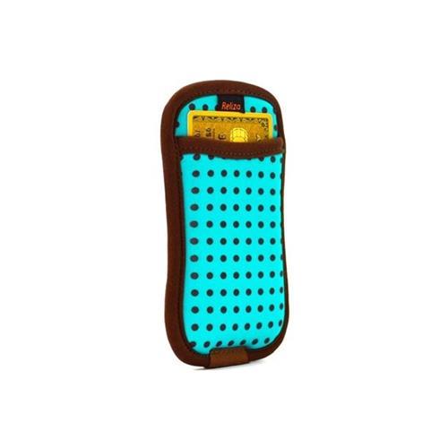 Case Para Iphone 5 E 5S Com Porta Cartão Esmeralda Reliza
