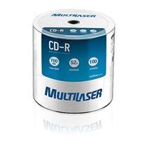Mídia Cd Virgem 700 Mb 100 Unidades Cdr52x100u Multilaser