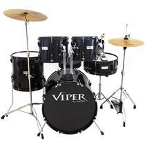 Bateria Completa Viper22 Preta X-Pro Drums