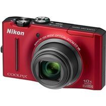 Câmera Digital 12.1Mp Coolpix Vermelha S8100 Nikon