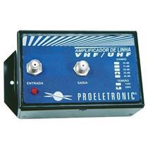 Amplificador De Linha Vhfuhf 30Db Bivolt Pqal3000 Proeletronic