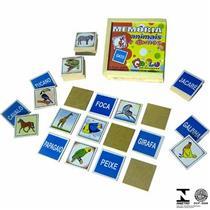 Jogo Da Memória 40 Pçs Animais E Nomes 1037 Carlu