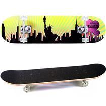Skate Infantil Semi Pró Amarelo E Preto 5198 Viva Full