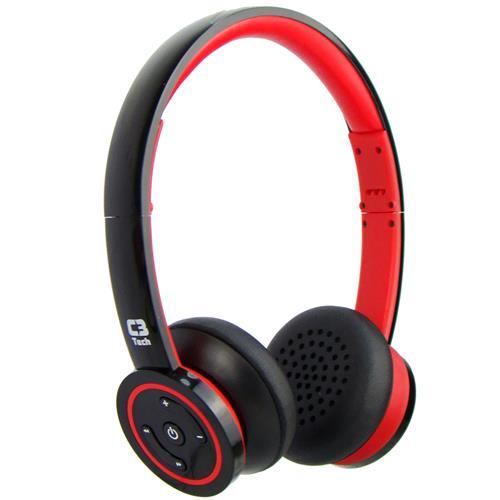 Fone Bluetooth 3.0 Headphone P2 Vermelho H-W955b C3 Tech