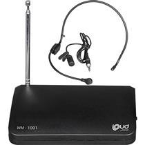 Microfone Sem Fio Auricular Lapela 114Mhz Wm-1001 Loud