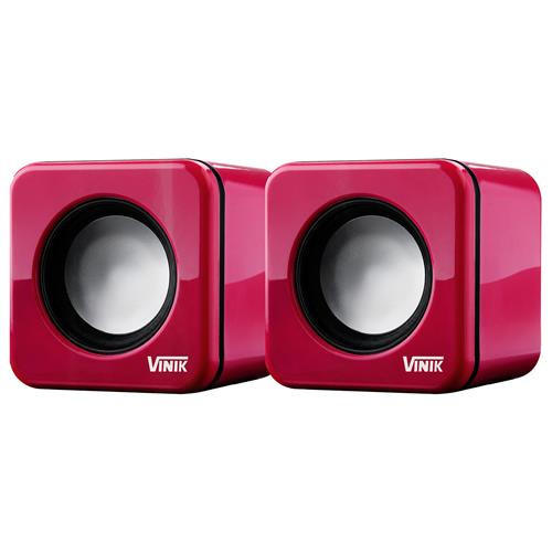 Caixa De Som Usb 2.0 6W Rms Pink 100Hz 4 Ohm Vs-101 Vinik