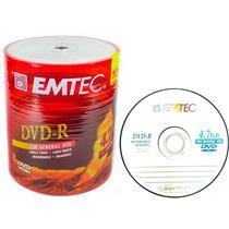 Mídia Dvd-R Virgem 4.7 Gb Com 100 Unidades 130000681 Emtec