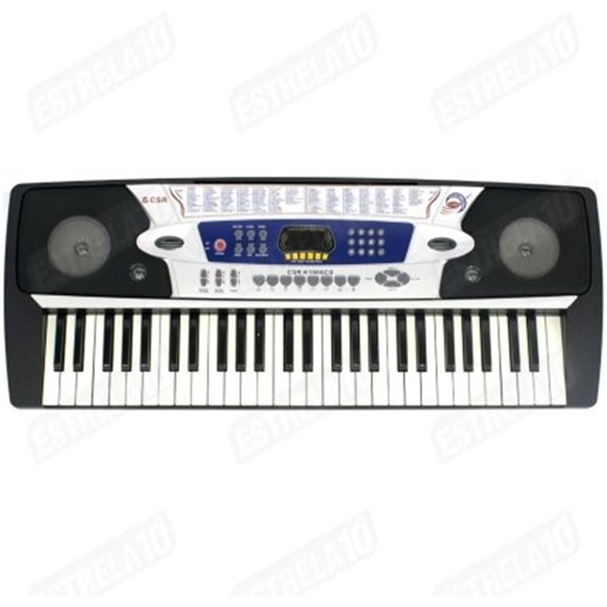 Teclado Musical Com 54 Teclas E Fonte Bivolt K1900cs Csr