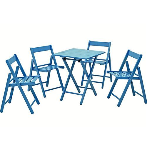 Conjunto De Mesa E Cadeiras Azul 10630019 Tramontina