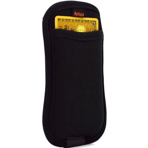 Case Para Smartphone Com Porta Cartão Preto Reliza