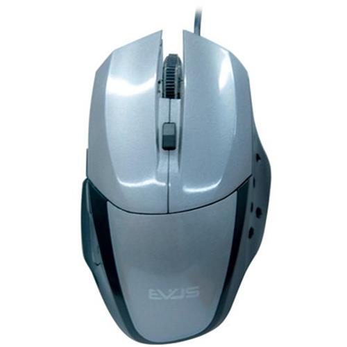 Mouse Óptico Gamer Precision Usb 1.600Dpi Cinza Mg-06 Evus