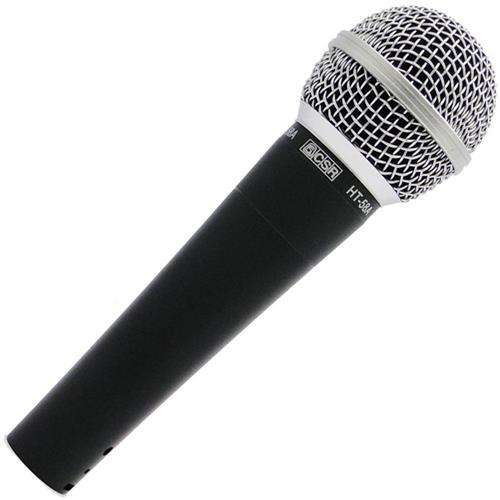 Microfone De Mão Com Fio 600 Ohms 4.3M Preto Ht58a Csr