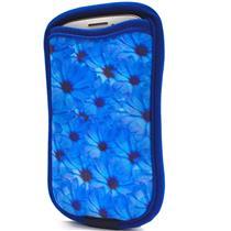 Capa Para Galaxy S3 S4 Com Porta Cartão Flores Reliza