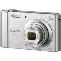 Camera Digital Prata 20.1Mp Dsc-W800s Sony