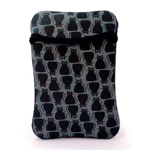Case Duplaface Tablet 7 Pol E  iPad Mini Gato Preto Reliza