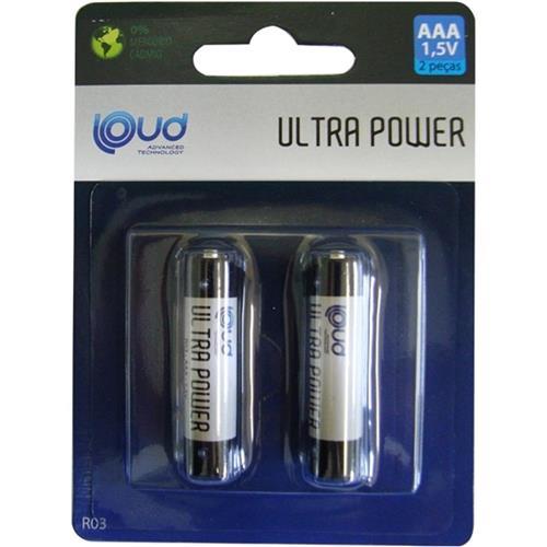 Pilha Aaa Ultra Power 1,5v R03 Ps-007c2 Loud