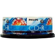 Midia Cd-R 52X 700Mb C25 Un Cr7d5sb2597 Philips