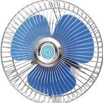 """Mini Ventilador De Carro 6"""" 12V Inclinável Branco E Azul 21464 Loud"""