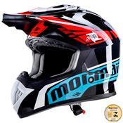 Capacete Para Motocross Cooler Black Fs 603 Mormaii