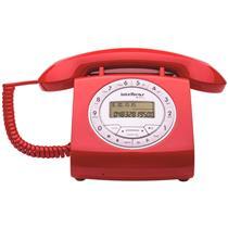Telefone Retrô Com Fio Viva-Voz Vermelho Tc8312 Intelbras