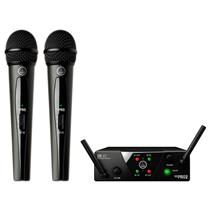 Microfone Sem Fio Wireless Mini Dual On Off Preto WMS40 AKG