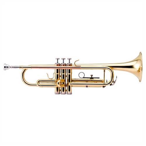 Trompete Laqueado 3 Pistões Afinado Em Bb Htr335l Harmonics