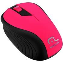 Mouse Sem Fio 2.4Ghz Preto E Rosa 1200 Dpi Mo214 Multilaser