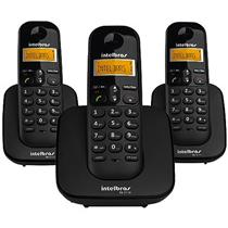 Telefone Sem Fio + 2 Ramais Preto Ts3113 Intelbras
