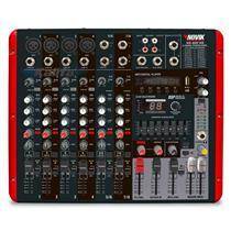 Mesa De Som Amplificada 8 Canais 600W RMS NVK - 800P Novik