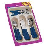 Faqueiro Azul De Aço Inox Com 25 Peças 23198175 Tramontina