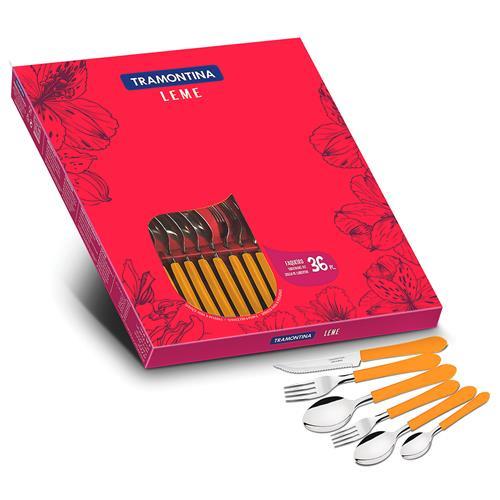 Faqueiro Com 36 Peças Leme Aço Inox 23198442 Tramontina