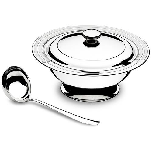 Kit Para Sopa 2 Peças Aço Inox 1,90 L 64510310 Tramontina