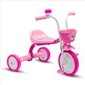 Triciclo Feminino Com Cestinha E Buzina Rosa Nathor