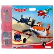 Kit De Pintura Aviões Desenhos Para Colorir Br060 Multikids