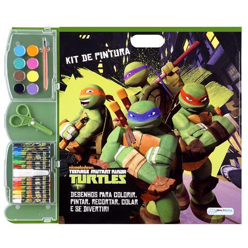 Kit Para Pintar E Colorir Tartarugas Ninja BR066 Multikids