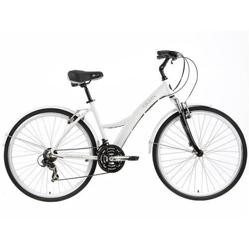 Bicicleta Urban Premium Branca Com Suspensão Tito Bikes