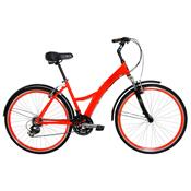 Bicicleta Urban Premium Laranja Com 21 Marchas Tito Bikes