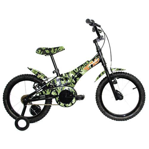Bicicleta T16 Infantil Camuflada Verde Vbrake Tito Bikes