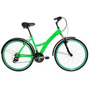 Bicicleta Urban Premium Verde Com 21 Marchas Tito Bike