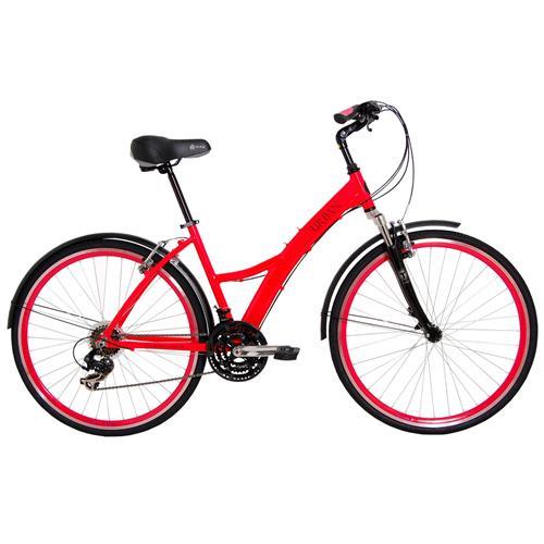 Bicicleta Urban Premium Rosa Com 21 Marchas Tito Bikes