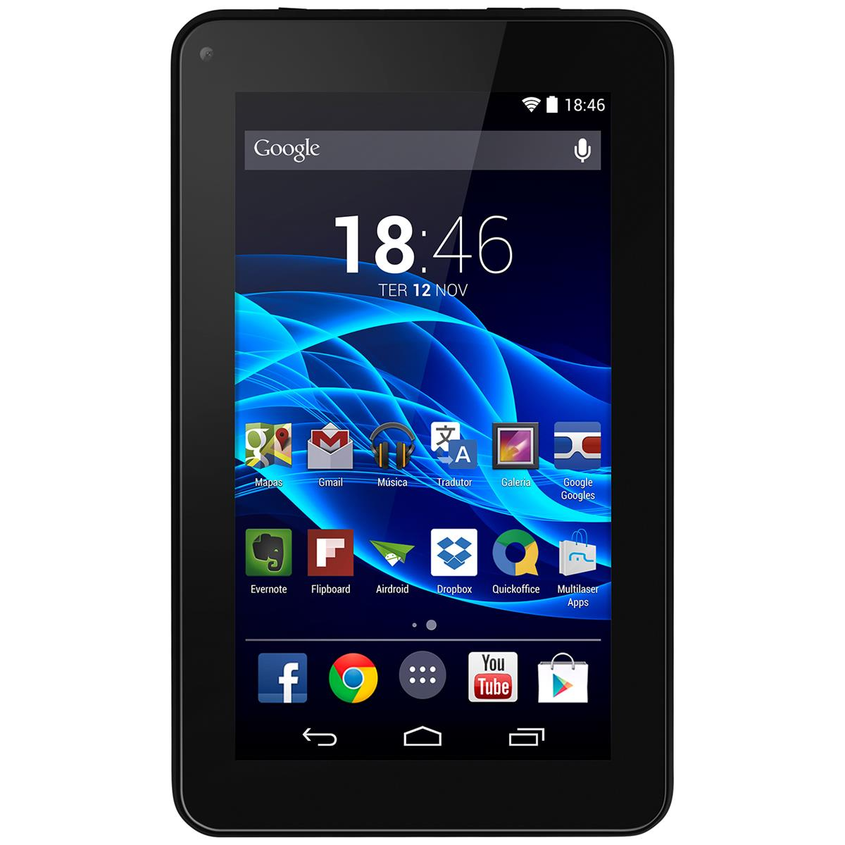 Tablet Supra Quad Core Android 4.4 Preto Nb199 Multilaser