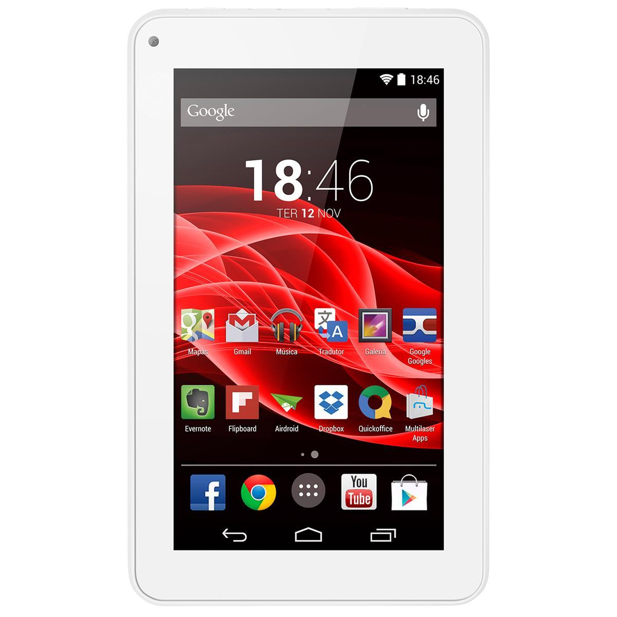 Tablet Supra Quad Core Android 4.4 Branco Nb200 Multilaser