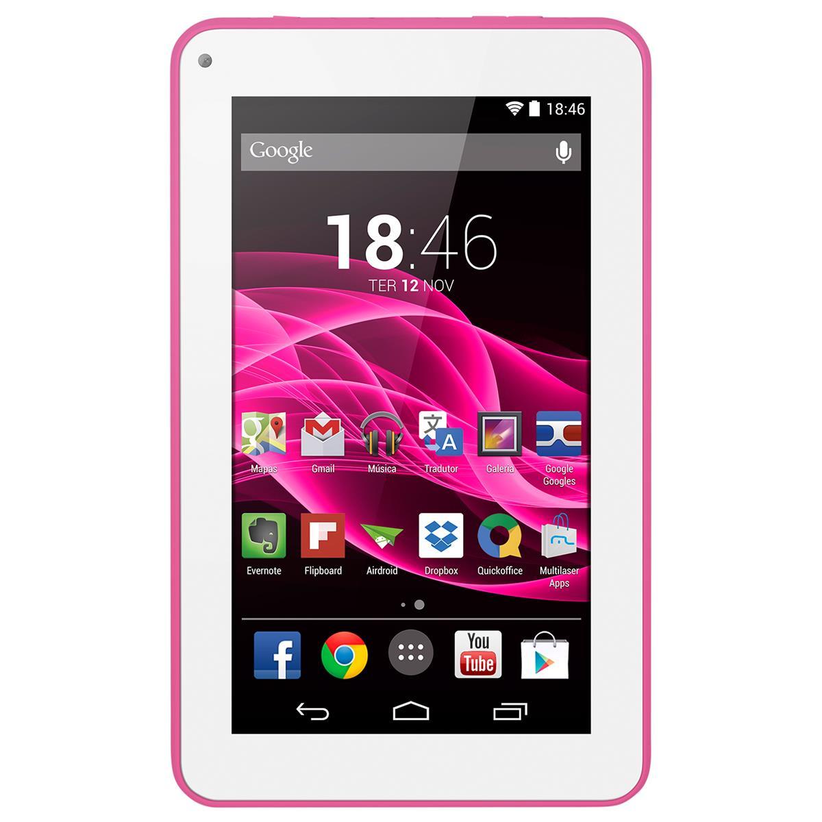 Tablet Supra Quad Core Android 4.4 Rosa Nb201 Multilaser