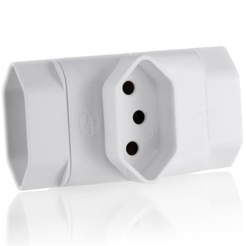 Adaptador T Nbr 3 Saídas 3 Pinos Branco Wi217 Multilaser
