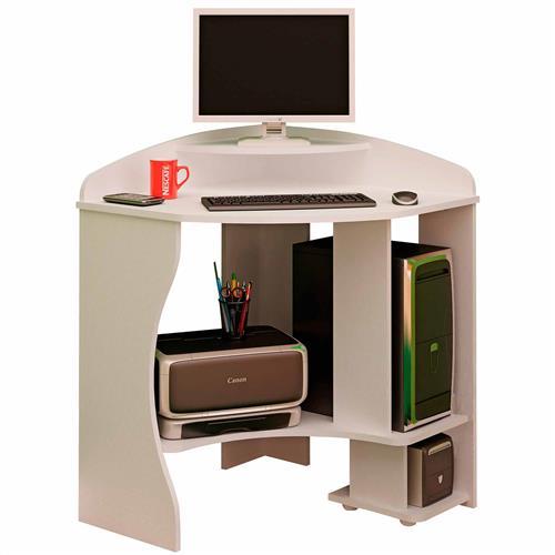 Mesa De Computador Java Branca Em Mdp E Mdf 2338 Artely