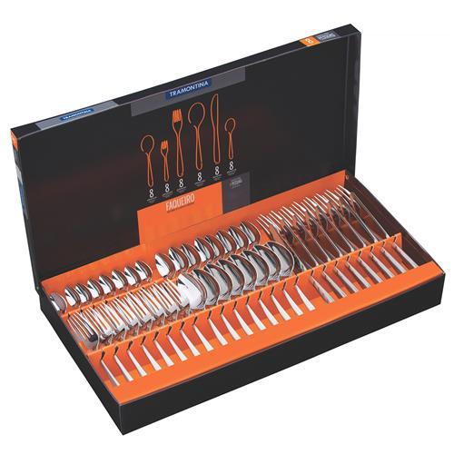 Faqueiro Oslo 48 peças Aço Inox 66985144 Tramontina