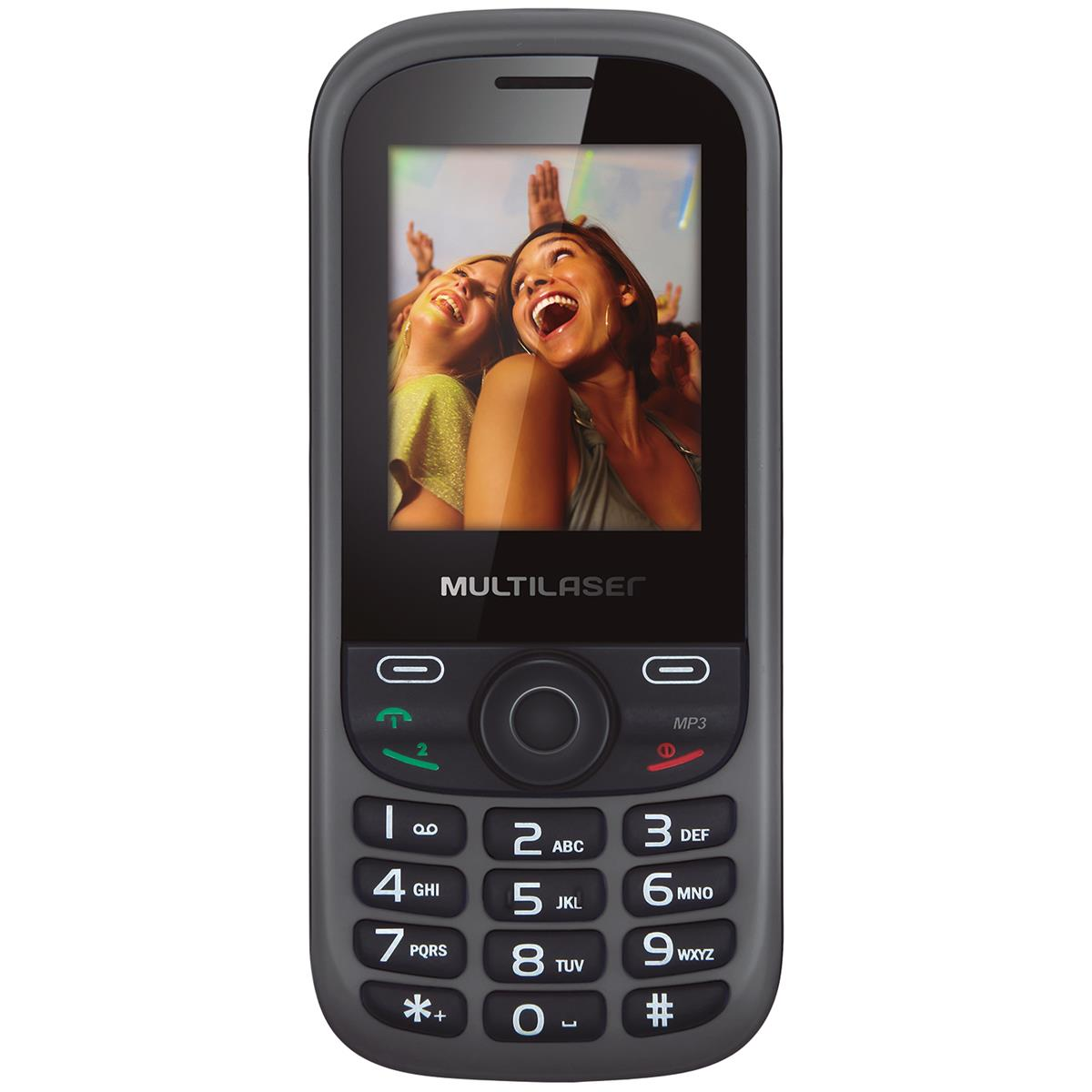 Celular Up 2Chip Cam Preto E Cinza P3292 Multilaser