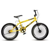 Bicicleta Cross Ride Extreme 72 Raios Aro 20 Amarela Colli