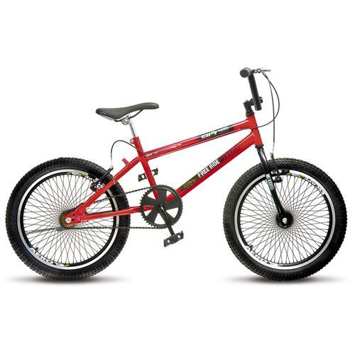 Bicicleta Cross Ride Extreme 72 Raios Aro 20 Vermelha Colli