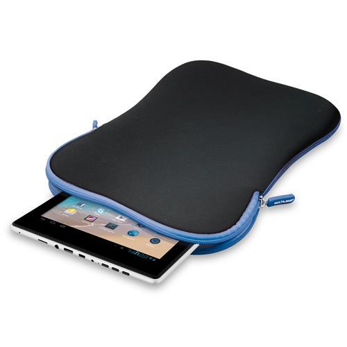 Case Neoprene Azul Preto Para Tablet 10 Pol Bo179 Multilaser
